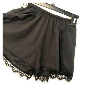3 for $25 Black flowy shorts with lace